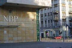 Polnisches National Bank, das in Katowice aufbaut Stockfoto