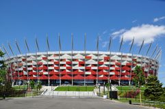 Polnisches nationales Stadion stockbild