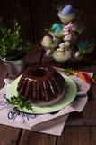 Polnisches schokolade babka Lizenzfreies Stockbild