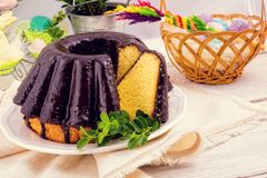 Polnisches schokolade babka Lizenzfreie Stockfotos