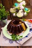 Polnisches schokolade babka Stockfotos