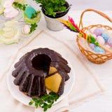 Polnisches schokolade babka Stockfotografie