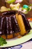 Polnisches schokolade babka Stockfoto