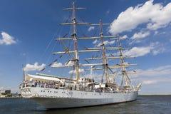 Polnisches Segelschulschiff Stockfotos