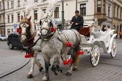 Polnisches Taxi Stockfoto