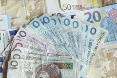 Polnish Zloty Bill στοκ εικόνες με δικαίωμα ελεύθερης χρήσης