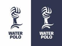 Polo aquático profissional do logotipo do sinal do vetor moderno Fotos de Stock Royalty Free