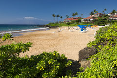 Polo Beach, costa sul de Maui, Havaí Imagens de Stock Royalty Free