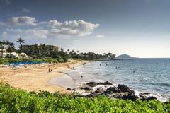 Polo Beach, orilla del sur de Maui, Hawaii Fotografía de archivo libre de regalías
