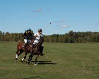 Polo bei schwarzem Diamond Polo Club Stockbild