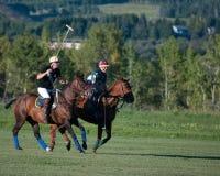 Polo bei schwarzem Diamond Polo Club Stockfotos