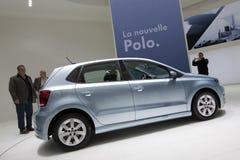 Polo Bluemotion - Ginevra 2009 di Volkswagen Fotografia Stock Libera da Diritti