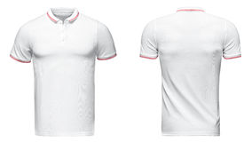 Polo branco, roupa imagens de stock royalty free