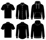 Polo, camicia e maglia con cappuccio del modello del profilo immagine stock libera da diritti