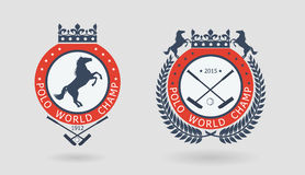 Polo championship emblems Royalty Free Stock Photography
