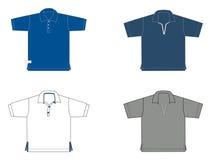 Polo-chemises, différents modèles et couleurs Images libres de droits