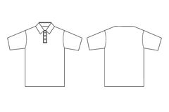 Polo clothing template outline. Simple illustration of polo shirts outline as templates Stock Photos