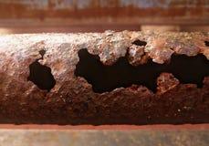 polo corroído y oxidado del metal Fotos de archivo