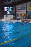 Polo d'eau des femmes, Italie - Hongrie Photo libre de droits