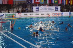 Polo de água das mulheres - Italy Fotos de Stock