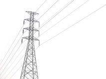 Polo de alto voltaje aislado en el fondo blanco Foto de archivo libre de regalías
