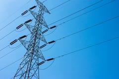Polo de alto voltaje visto top Foto de archivo