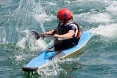 Polo de kayak Images libres de droits