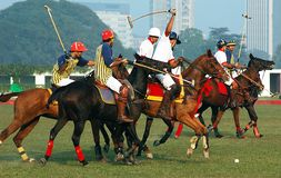 polo de kolkata de l'Inde de jeu Photographie stock libre de droits