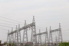 polo de la electricidad por la tarde fotos de archivo libres de regalías
