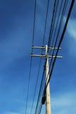 Polo de poder con el cielo azul Fotografía de archivo libre de regalías