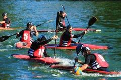Polo della canoa Fotografie Stock Libere da Diritti