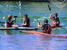 Polo della canoa Fotografia Stock Libera da Diritti