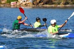 Polo di acqua della canoa Fotografia Stock Libera da Diritti