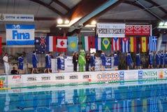 Polo di acqua delle donne - Italia Immagini Stock