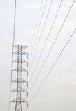 Polo elétrico de alta tensão Fotografia de Stock