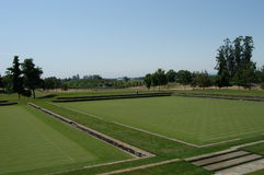 Polo field. Private polo sport field in U.S.A stock photos