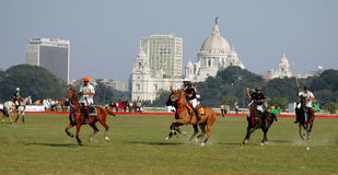 Polo game in Kolkata-India Stock Photos