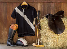 Polo gear. Equestrian gear for polo sport Royalty Free Stock Image