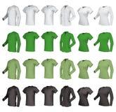 Polo, Hemden und T-Shirts eingestellt Stockbild