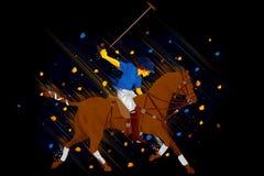 Polo Horse Player Images libres de droits