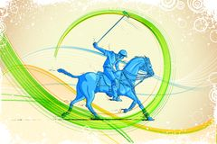 Polo Horse Player Royalty Free Stock Image