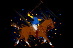 Polo Horse Player Royalty Free Stock Images