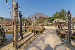 Polo-jangseung tradicional coreano del tótem de DEC 6,2017 en el museo popular nacional Fotografía de archivo libre de regalías
