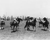POLO MATCH. (All persons depicted are no longer living and no estate exists. Supplier grants that there will be no model release issues stock photography