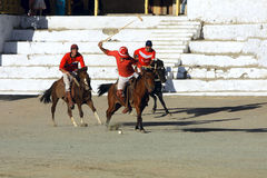 Polo match on Ladakh festifal Royalty Free Stock Images
