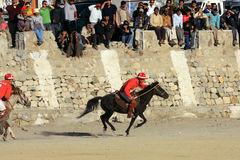 Polo match on Ladakh festifal. Action shot of a polo match  2011 on the 3th of September, the Leh, the Ladakh, India Stock Photography