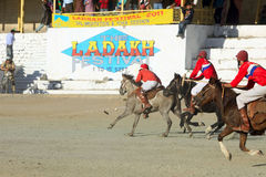 Polo match on Ladakh festifal. Action shot of a polo match  2011 on the 3th of September, the Leh, the Ladakh, India Royalty Free Stock Photo