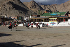 Polo match on Ladakh festifal Royalty Free Stock Photos