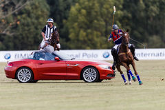 Polo Match Sponsor Rider Start Stock Images