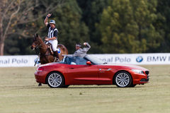 Polo Match Sponsor Start Royalty Free Stock Photo